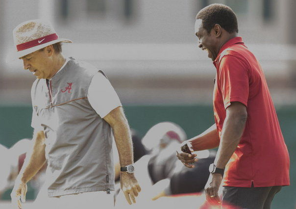 Avery Johnson has a long way to go to get anywhere near Nick Saban, but he has Alabama basketball headed in the right direction (Credit: AL.com)