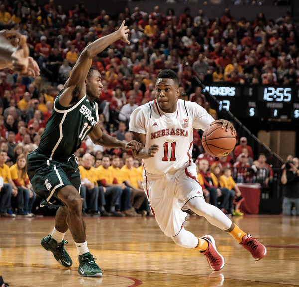 Tarin Smith has decided to transfer from Nebraska after playing one season under Tim Miles. (Eric Francis, Getty)