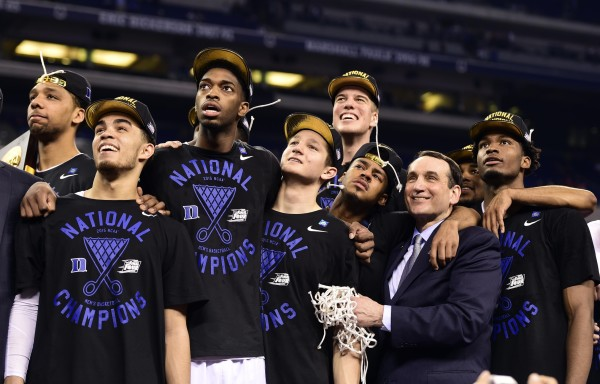 Coach K's Blue Devils Cut Down the Nets for the Fifth Time (USA Today Images)