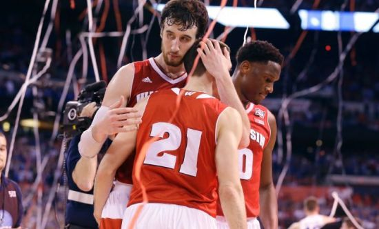 Frank Kaminsky and the Badgers came up just a little bit short. (AP Photo/Michael Conroy)