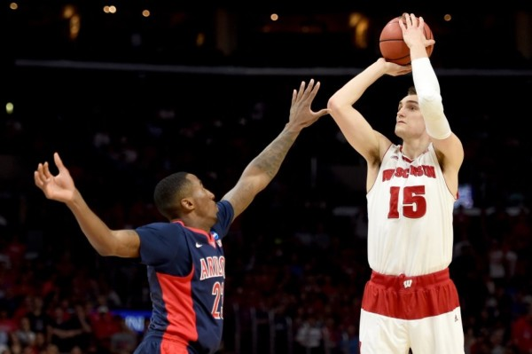 Forward Sam Dekker was exceptional against Arizona in the Elite Eight. (Harry How/Getty Images)