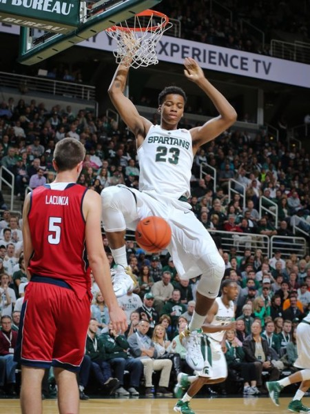 Deyonta Davis will need to keep dominating inside against Kansas. (Rey De Rio/Getty Images)