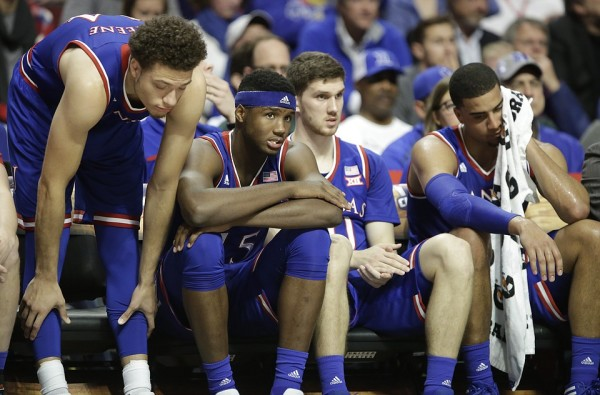 After losing to Michigan State, Kansas is just 1-4 in the Champions Classic. (KU Sports/Nick Krug)