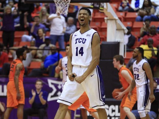 Once the crown jewel of Trent Johnson's first full recruiting class at TCU, Karviar Shepherd (now wearing #32 for 2015-16) must overcome a disappointing 2014-15 and become a reliable force for the Horned Frogs. (Kevin Jairaj/USA Today Sports)