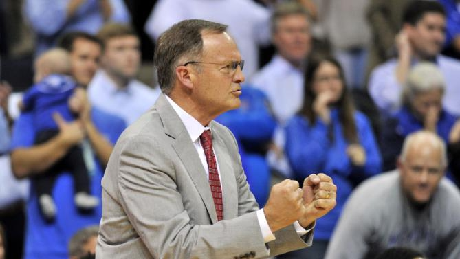 Lon Kruger has a built a serious Final Four contender in his fifth season with Oklahoma. (AP Photo/Brandon Dill)