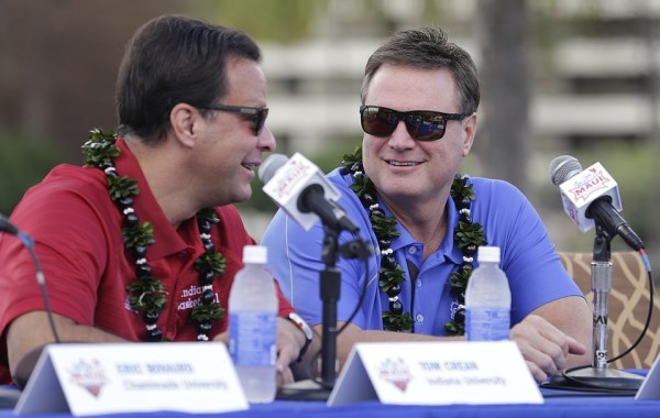 Bill Self and Tom Crean could meet on the court in the final of the Maui Invitational. (Photo Credit: KU Sports/Nick Krug)