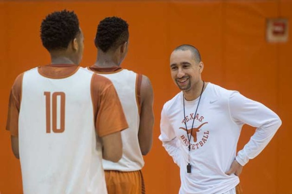Shaka Smart is all smiles as Texas tips off from China. (UT Athletics)