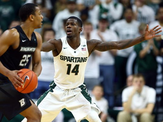 Eron Harris and his ability to score will be needed for Michigan State in the coming months. (Mike Carter, USA Today Sports)