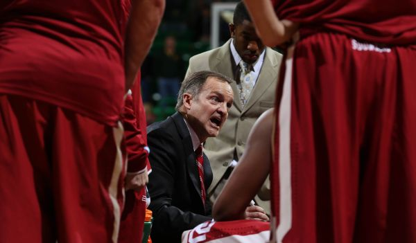 "We're not sure what Oklahoma coach Lon Kruger is telling his players at this moment. It's likely he is sharing something basketball related here but I wouldn't rule out Kruger explaining to him the lyrics of ""Coconut"" by Harry Nilsson. (CBS Sports)"