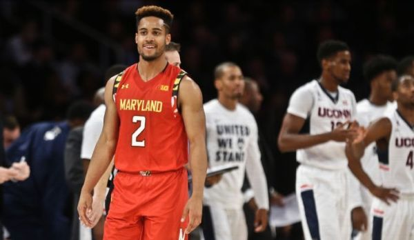 Melo Trimble had a lot to smile about Tuesday evening. (AP Photo/Frank Franklin II)