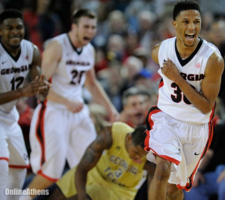 J.J. Frazier dropped 35 points over Georgia Tech in a big win for the Bulldogs (onlineathens.com).
