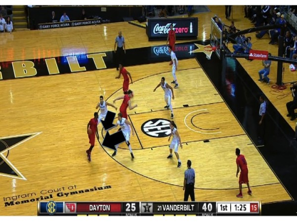 Effective ball screen defense prevents anything for Dayton's offense.