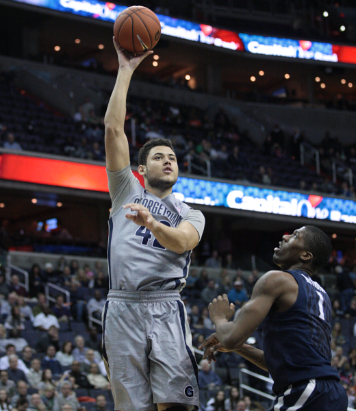 Bradley Hayes was the star of Georgetown's 79-72 win over Syracuse. (Chris Bien/The Hoya).