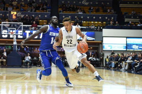 Joe McDonald picked up George Washington's offense against Seton Hall. (GW Athletics/Mitchell Layton)