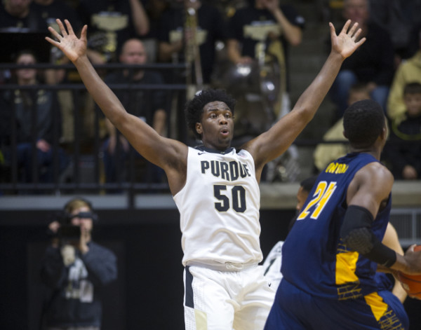 Caleb Swanigan has played like a potential All-American so far this season. . (AP Photo/Doug McSchooler)