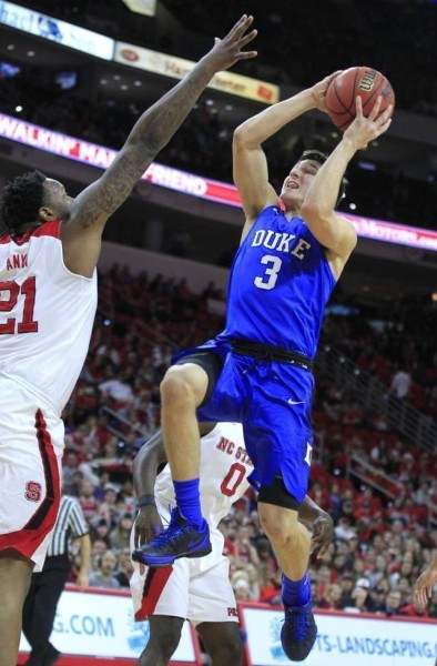 Grayson Allen had a strong all-around game to help Duke end its losing streak. (Ethan Hyman/The News & Observer)