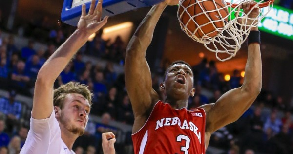 Andrew White notched a double-double with 21 points and 13 rebounds Saturday for Nebraska. (Getty)
