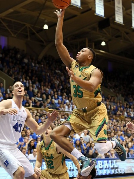 Notre Dame's Bonzie Colson punished Duke with 31 points in the Irish's big road win. (Mark Dolejs/USA TODAY Sports)