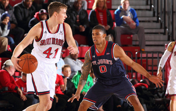 Saint Mary's Sophomore Emmett Naar Leads The Nation In Three-Point Percentage (Photo: SMCGaels.com)