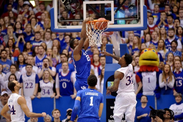 Kentucky and Kansas Played a Classic in Lawrence Saturday Night (USA Today Images)