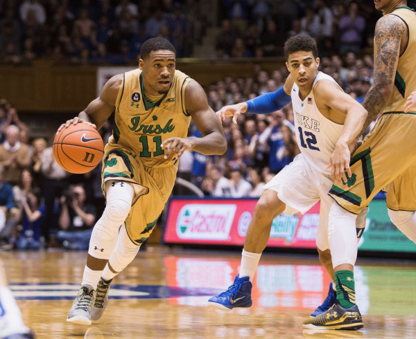 Demetrius Jackson leads Notre Dame's outstanding offense and is among the nation's best point guards. (Ben McKeown/AP Photo)
