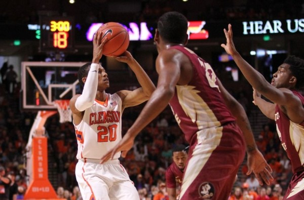 Jordan Roper was red-hot - making 7 threes in Clemson's win over Florida State. (Dawson Powers/USA TODAY Sports)