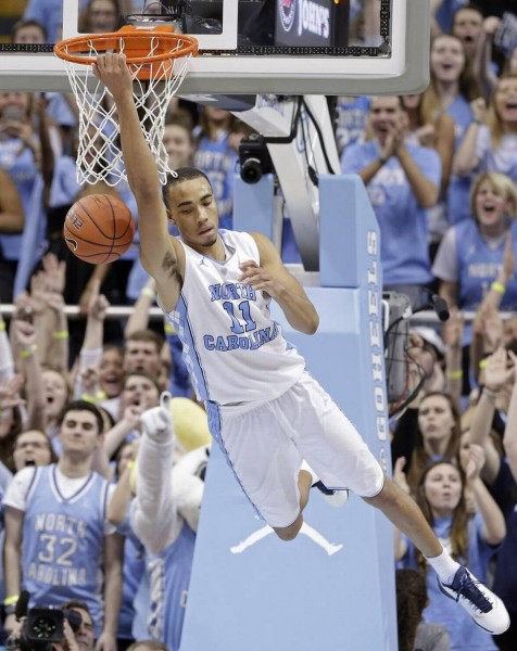 Brice Johnson recorded another double-double and North Carolina routed Miami in Saturday's battle for first place in the ACC. (Gerry Broome/AP Photo)