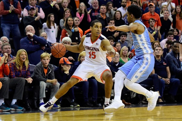 Malcolm Brogdon made a strong case to be ACC Player-of-the-Year in Virginia's win over North Carolina. (Patrick McDermott/Getty Images)
