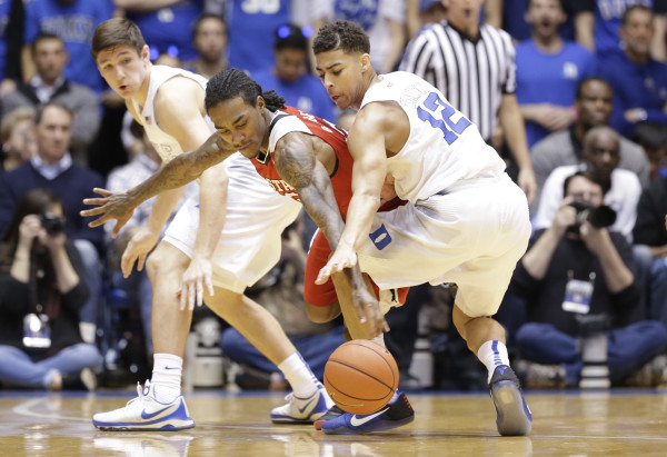 Derryck Thornton's return to the starting lineup has given Duke a boost defensively. (AP Photo/Gerry Broome)