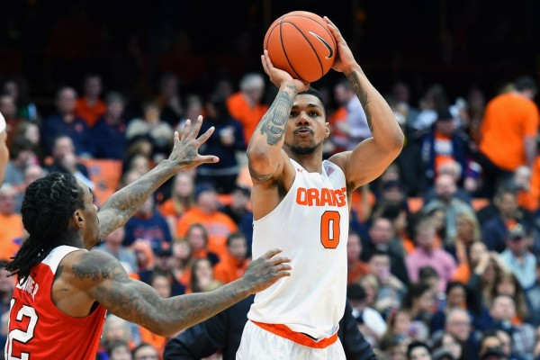 Michael Gbinije celebrated Senior Day in style as Syracuse defeated N.C. State. (Rich Barnes/USA TODAY Sports)