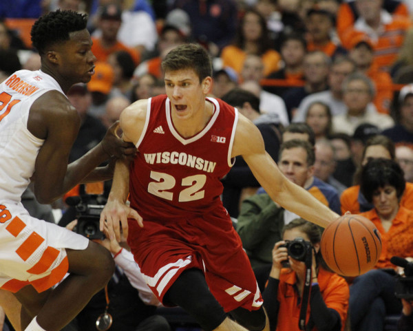 Ethan Happ controlled the paint as Wisconsin rallied to beat Illinois Sunday night. (Nick Lisi, AP)