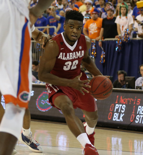 Retin Obasohan and Alabama won in Gainesville for the first time since 1995 (rolltide.com).