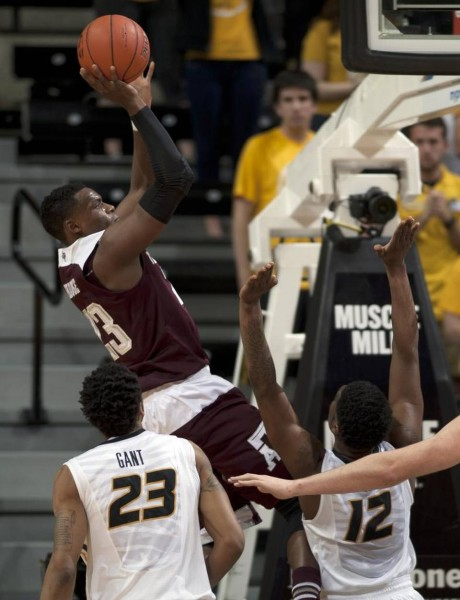 Texas A&M's Danuel House hit 4 of his 8 three-point attempts in the Aggies' 84-69 win. (Nick Schnelle/Columbia Daily Tribune)