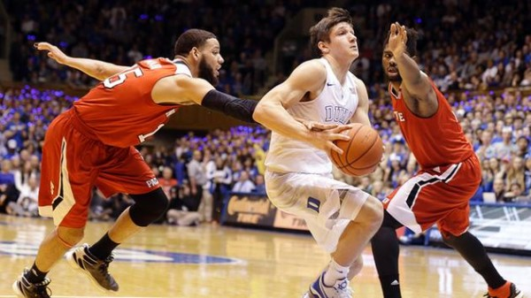 Grayson Allen sliced through the N.C. State defense for 28 points for the second time this season. (Gerry Browne/AP Photo)