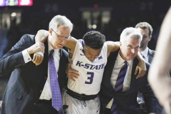 Kamau Stokes will miss extended time after suffering a right knee injury. (Bo Rader/The Wichita Eagle)