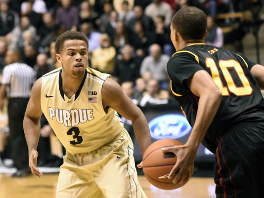 P.J. Thompson's ball-handling has helped give Purdue stability in the backcourt (Sandra Dukes-USA TODAY Sports).