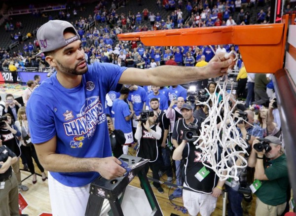 The Jayhawks hope the nets in Kansas City aren't the last ones they cut down this season (Charlie Riedel, AP)