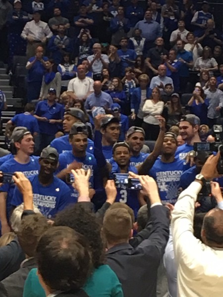 Tyler Ulis and Kentucky celebrate yet another SEC title.