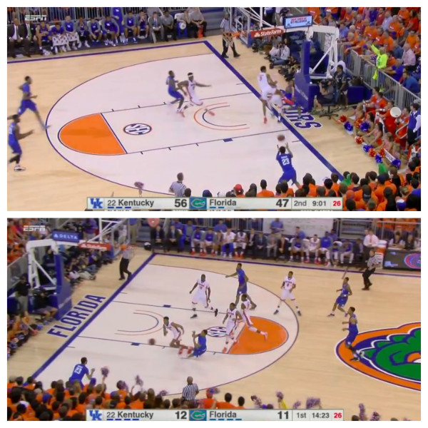 Murray runs directly to the corner, and Florida fails to find him.