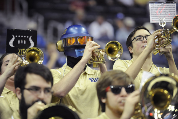 The Pitt band plays during the quarterfinals of the 2016 New York Life ACC Tournament in Washington, DC, Thursday, March 10, 2016. (Photo by Liz Condo, theACC.com)