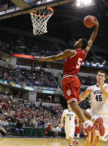 Troy Williams and Indiana may get a chance to play Kentucky after all if the bracket holds. (Getty).