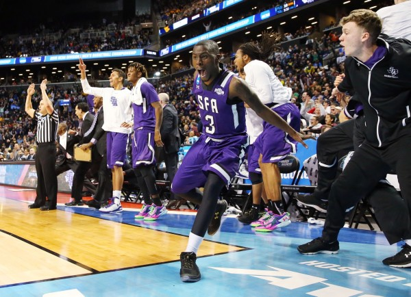 SFA Celebrates a Huge NCAA Tournament Win (USA Today Images)