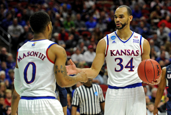 Kansas Seniors Frank Mason and Perry Ellis Made Sure UConn's March Run Came To An End Saturday (Photo: Steven Branscombe-USA TODAY Sports)