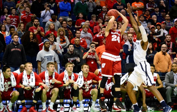 Bronson Koenig's Dagger Three Sent Wisconsin Back to the Sweet Sixteen (USA Today Images)