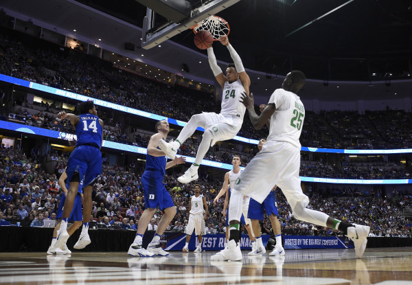 Dillon Brooks and Oregon jammed their way past Duke. (Photo: Richard Mackson-USA TODAY Sports)