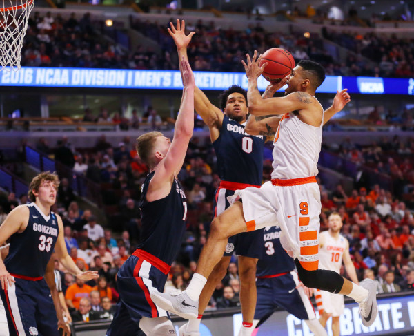 Little came easy for Michael Gbinije tonight, but the Syracuse star found a way to lead the Orange past Gonzaga. (Photo: Dennis Wierzbicki-USA TODAY Sports)
