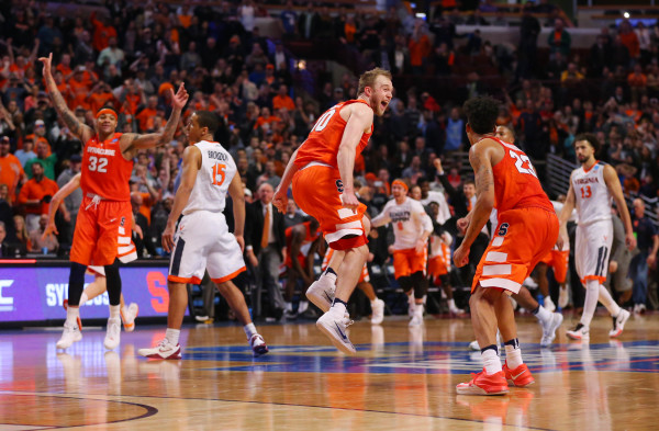 Syracuse stunned Virginia in the Midwest Regional Final to advance to the Final Four. (Photo: Dennis Wierzbicki-USA TODAY Sports)