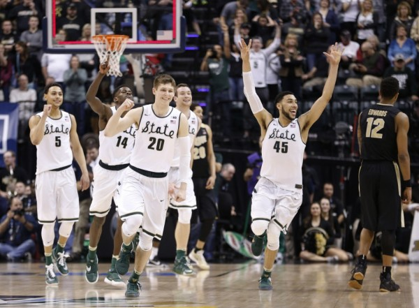 Michigan State edged Purdue for the B1G crown. (AP Photo/AJ Mast)