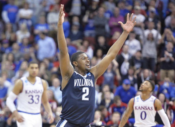Villanova hopes to do more celebrating in Houston. (Timothy D. Easley/AP)