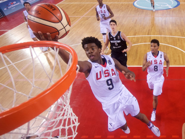 Josh Jackson will help solidify the wing position for Kansas in 2016-17. (Credit: USA Basketball)
